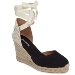 Soludos Wedge Lace-Up Espadrille Sandals